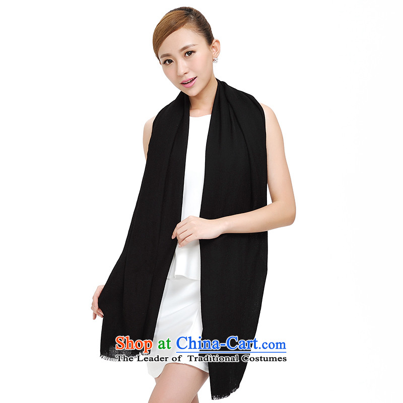 Shanghai Story pure color woolen scarves 2014 autumn and winter new women's a 80 pixel shading color field wool warm thick Fancy Scarf 177025 Black