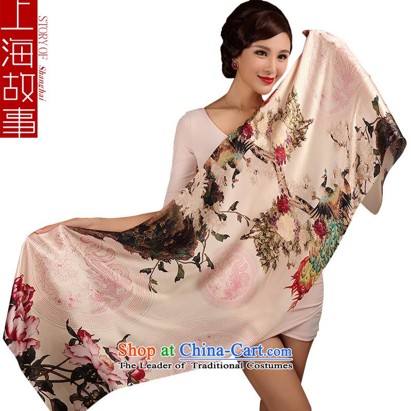 Shanghai Story silk scarves, sauna also silk scarf shawl masks in1#, starring style