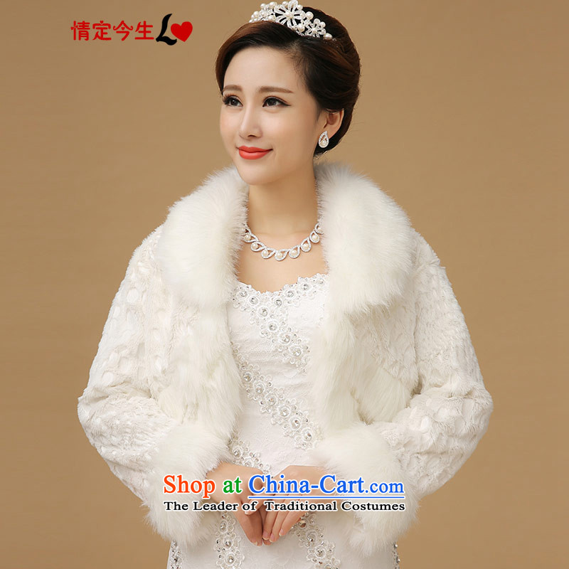 The new 2015 gross shawl bride wedding dresses qipao warm winter-thick white
