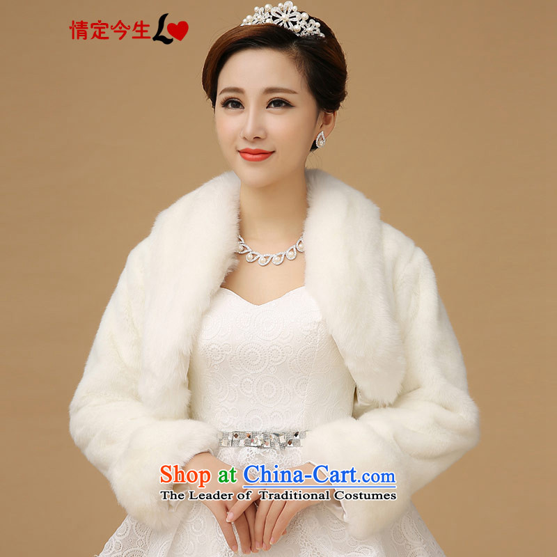Love of the overcharged by 2015 new wedding dresses qipao bridesmaid shawl marriage jacket bride white large autumn and winter.