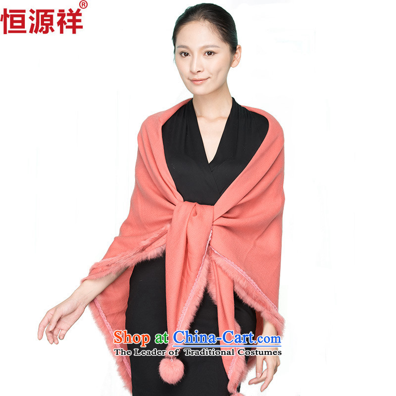 Ms. Cheung Hengyuan wooler scarf of autumn and winter and classy towel rabbit hair ball woman air-conditioned room with two shawls leather red