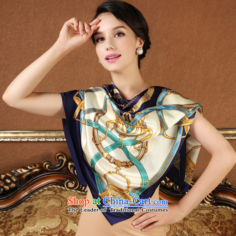 A picture of silk scarf meters high and classy and stylish classic towel phoned scarf silk scarves female 2 color