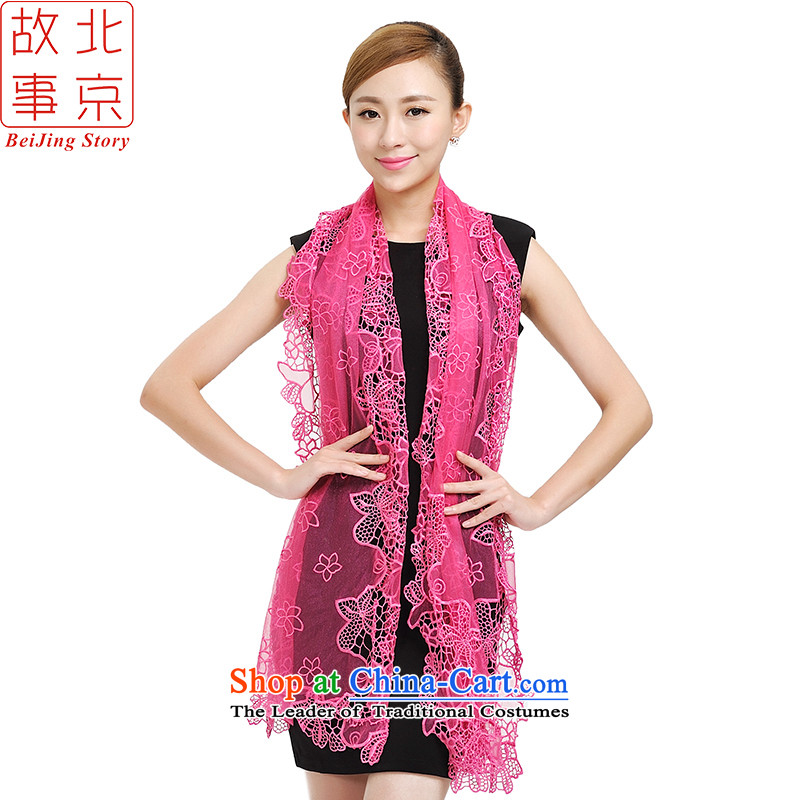 Beijing Spring and Autumn story stylish light slice new scarves, extra-long shawl a volley 177027  Dance of the Red