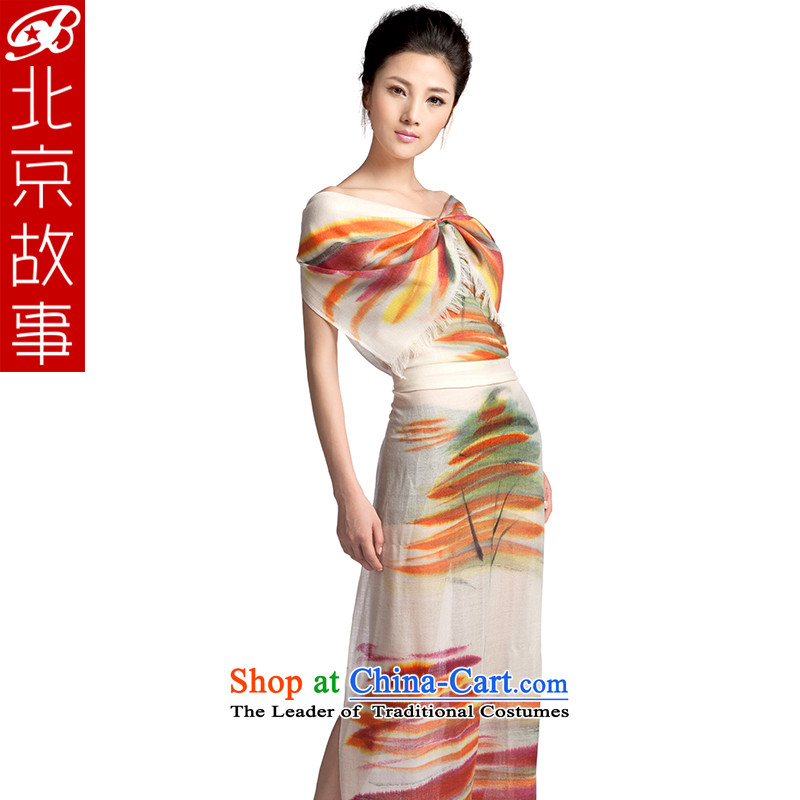 Beijing story counters during the spring and autumn winter Ms. new hand painted pashmina shawl4313wooler scarf