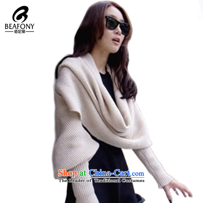 Bai Fei Li dongqiu) won with a solid color version sleeved universal couples, Knitting scarvesDs-w58 WarmWhite are code