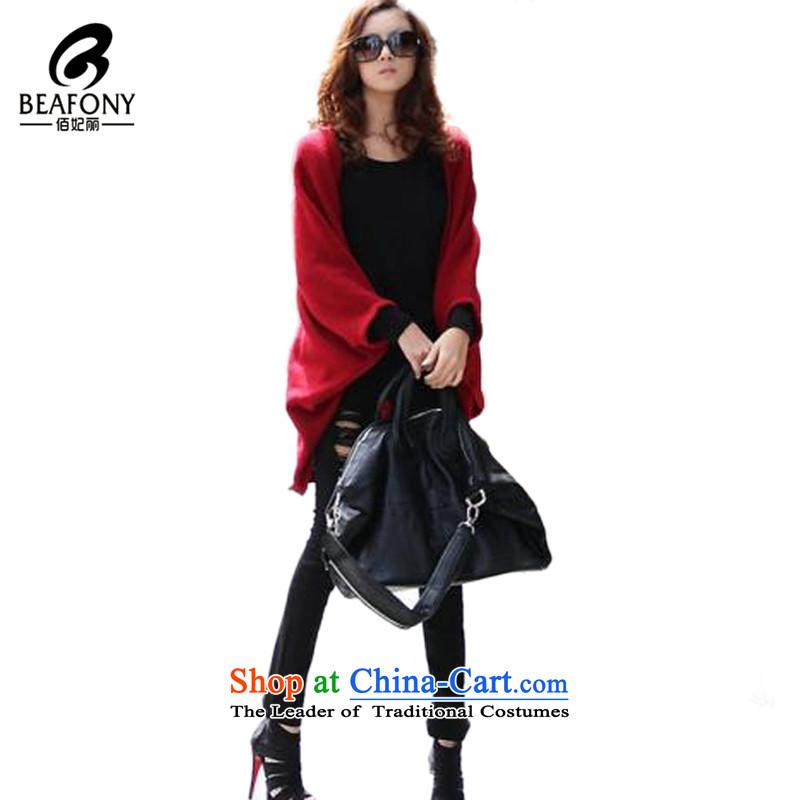 Bai Fei Li dongqiu_ bat sleeves emulation cashmere shawls large Ms. warm聽QA-9017聽black