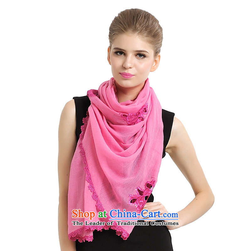 Shanghai Story Stylish spring and autumn on-chip female ultra grew up scarves shawl scarf Datang Princess wild a 177054 in red