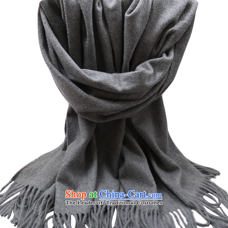 Astorypure color Cashmere scarf long warm spring and autumn thick oversized shawl soot