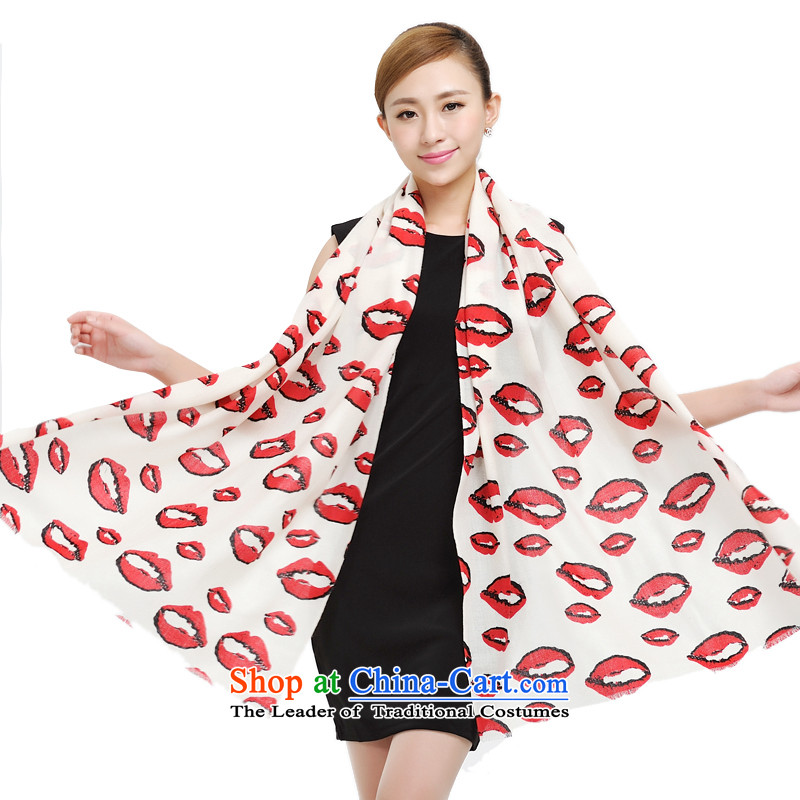 Shanghai Story Pure Wool scarves, lip lip cardiac wool encryption scarf autumn and winter new ultra long Wai Shing 177030 Red