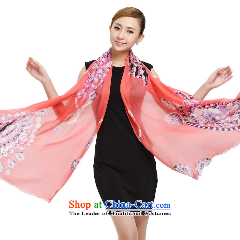 Shanghai Story pure Cashmere scarf, autumn and winter new diamond pattern warm shawl alpine long pashmina 177023 watermelon red
