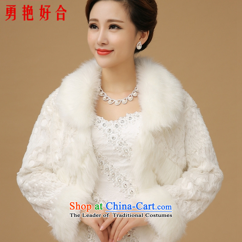 Wedding dresses new 2015 winter white long-sleeved shawls marriages wedding accessories shawl jacket white hair