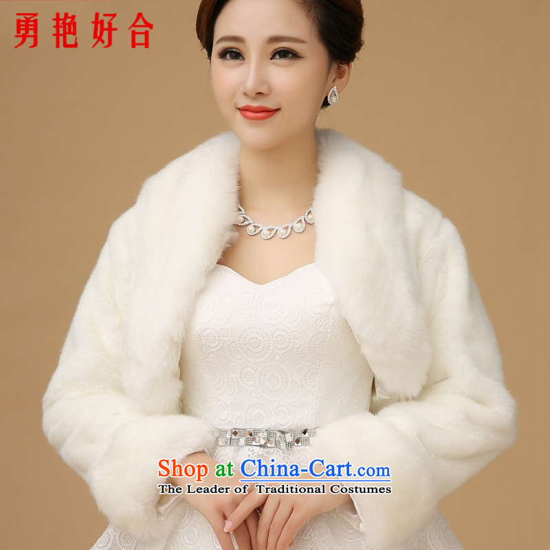 Winter wedding shawl wedding shawl winter wedding shawl long-sleeved wedding new 2015 winter bride Warm White