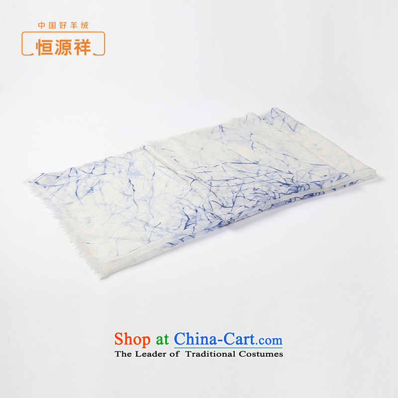 Hengyuan Cheung autumn and winter female scarves thin stamp Cashmere scarf shawl70*200 skyblue clocks