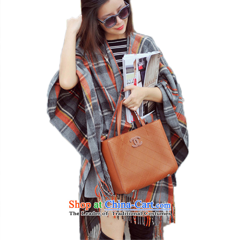 Lin, butterfly autumn and winter oversized thick shawl on the forklift truck latticed cloak emulation Cashmere scarf shawl, warm the grid of the forklift truck shawl