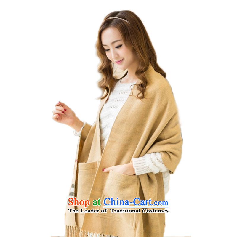 Lam Wing-bum of western emulation _pashmina shawl double-sided tape pocket warm fall thick a shawl British Grid large segments of the pocket of the forklift truck shawl shawl