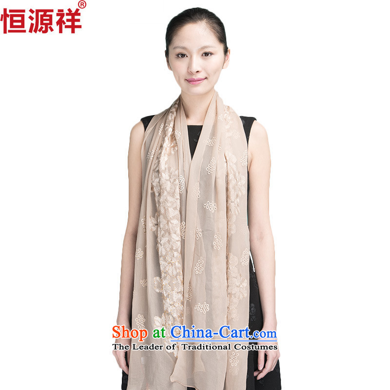 Ms. Cheung Hengyuan silk scarves red chiffon herbs extract large masks in the women's long spring and autumn pure color Korean shawl card its