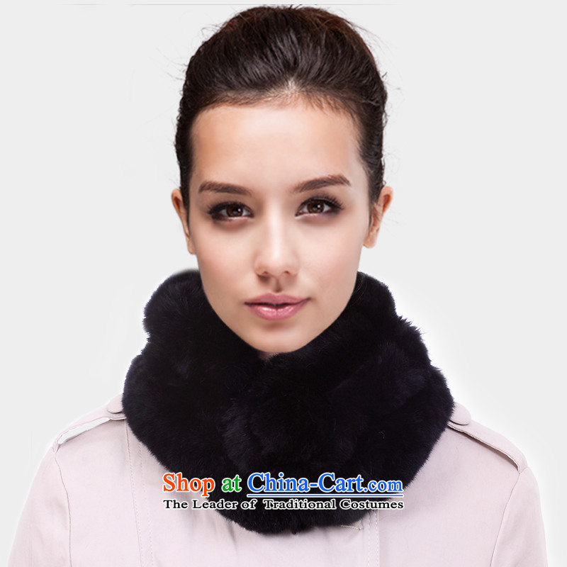 2014 WINTER fur and scarves, and woolen cravat, a rabbit hair girl winter. A Rabbit fur grass chokeholds kit and offer genuine black