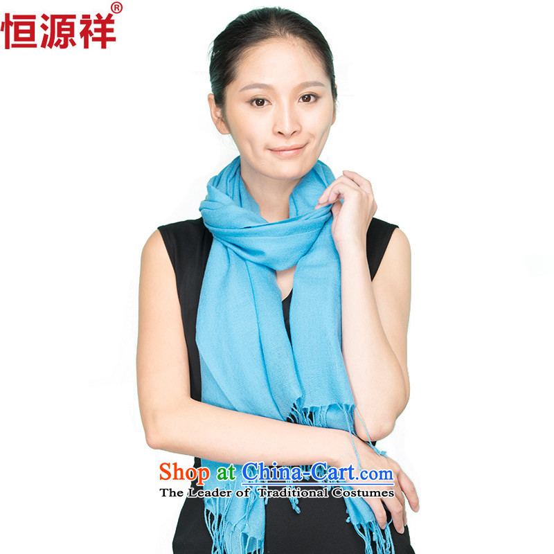 Hengyuan Cheung autumn and winter wooler scarf of Ms. color a red solid color with a shawl lake skip this step if the blue