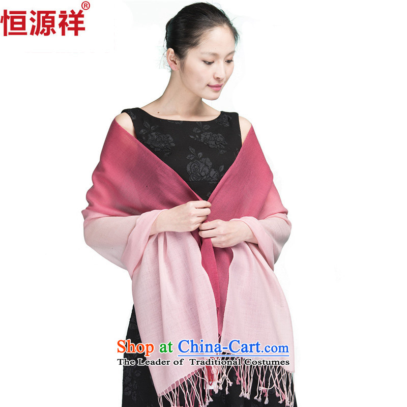 Hengyuan Cheung autumn and winter Ms. wool scarf edging long increase female gradients shawl wooler scarf gradient 28_