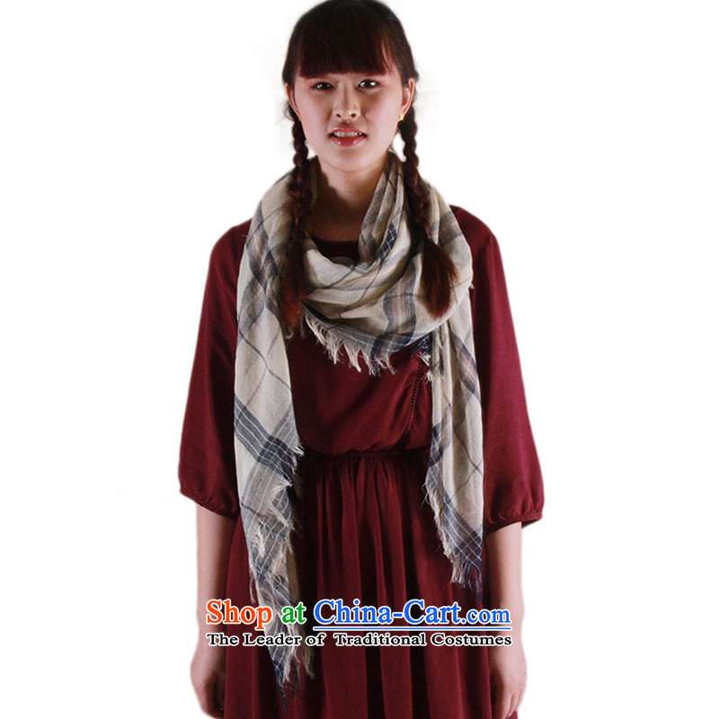 The grid cotton linen scarves CHEGEE women and men, pashmina shawl