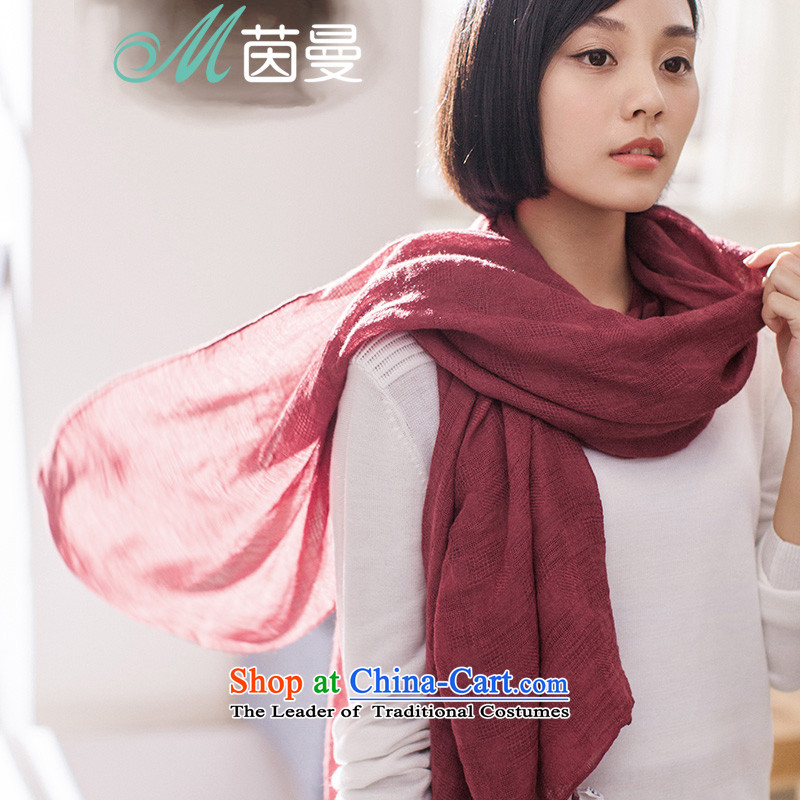 Athena Chu, scarves Cayman pure color arts women cape scarf use two female summer thin, wine red as soon as the elections 843140007