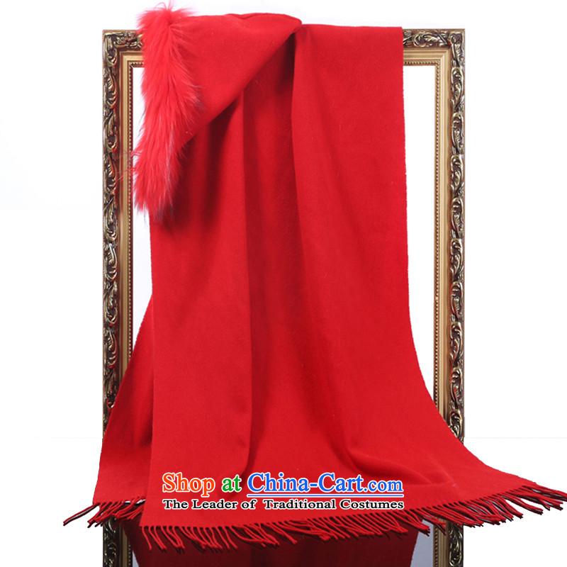 Hang Yuen Cheung-wool Lamb Wool Velvet Nuclear Sub gross monochrome stylish shawl gift boxed red