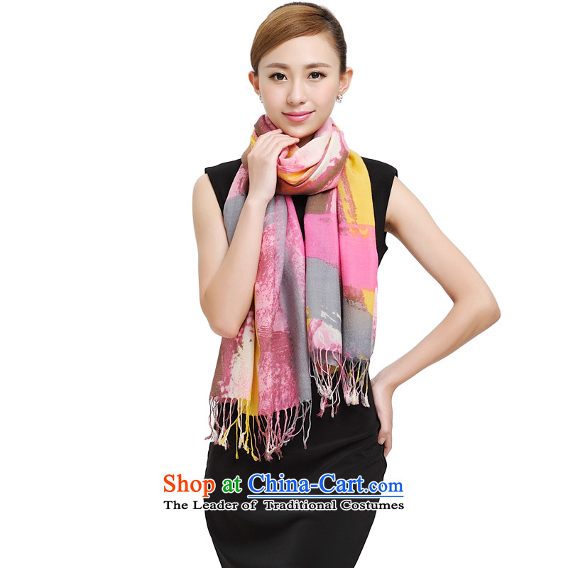 Shanghai Story autumn and winter Ms. new encryption shawl long warm and stylish girl 168008 wooler scarf temperament 177015 in the red