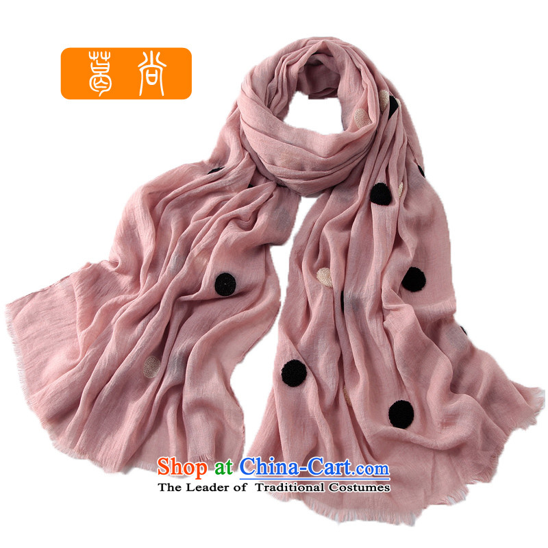 Ge Sang anew Ultra 2014 grew up irrepressible embroidery circle long silk scarf women Fancy ScarfW4081pink are code
