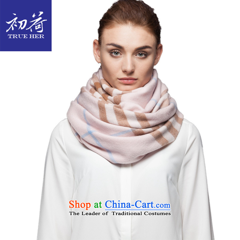 I should be grateful if you would arrange early wool latticed scarf Women Ms. Western autumn and winter pure color long thick a shawl4313gift box to the British Grid Pink