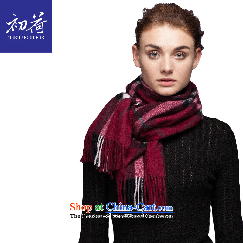 I should be grateful if you would arrange early pashmina girl English lint-free europe and Ms. stylish autumn and winter pure color long thick a shawl gift box with two noble woman's aristocratic Red Series