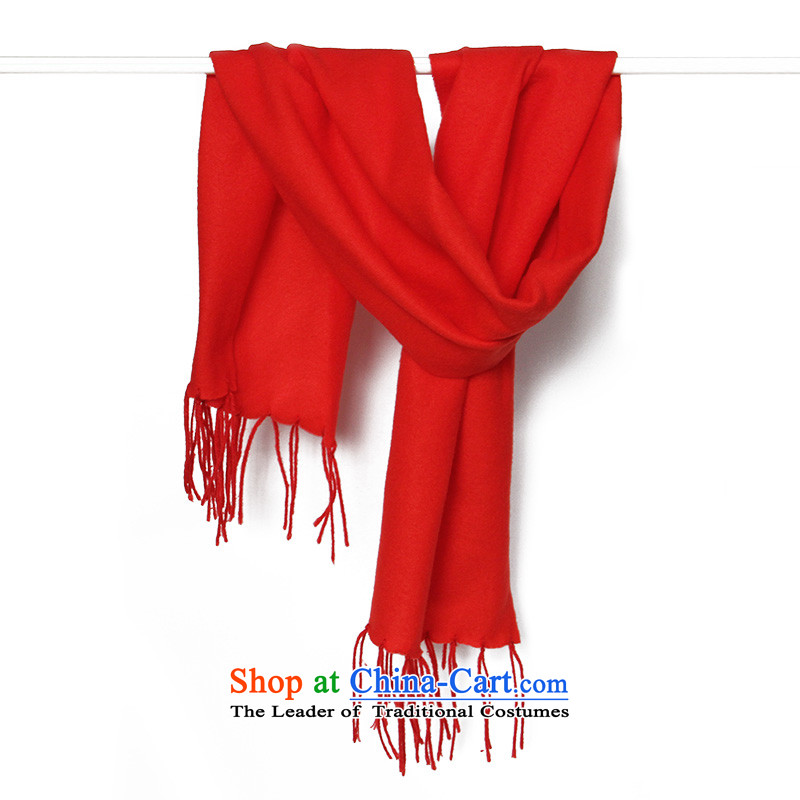 Daw Aung San Suu Kyi maximum 2014 autumn and winter men wooler scarf Classic Grid taxi streaks wild a red solid color