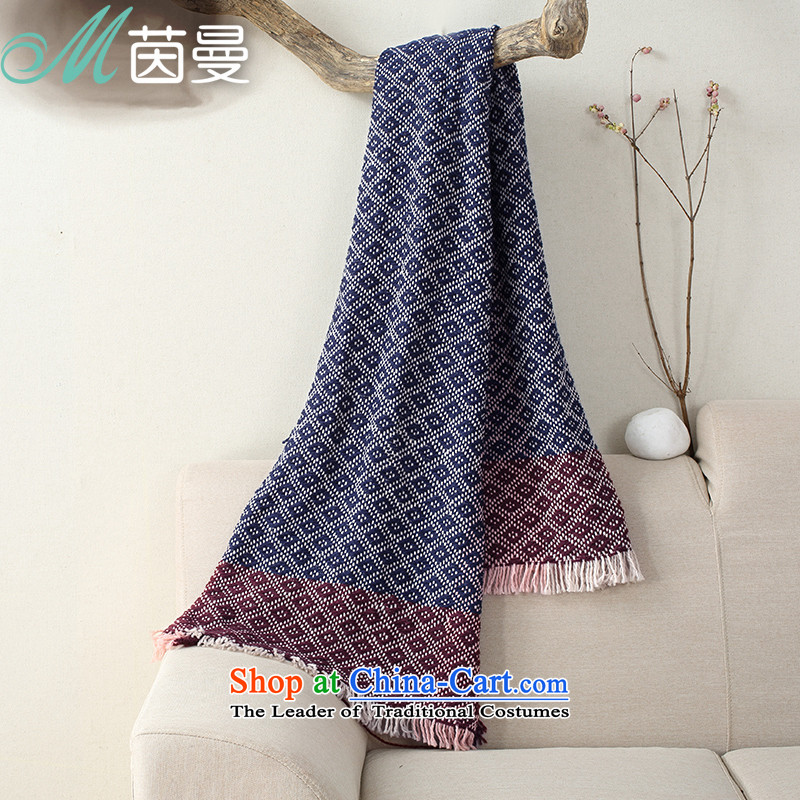 Athena Chu Cayman autumn and winter warm scarves knitted fabric, a gradient as long female shawl dual-use wild elections as soon as possible universal blue 844140045