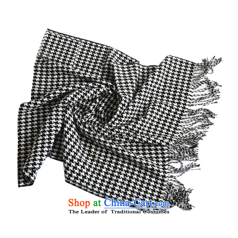 An Anthology CHEGEE emulation cashmere black and white chidori grid Fancy Scarf men and women Winter