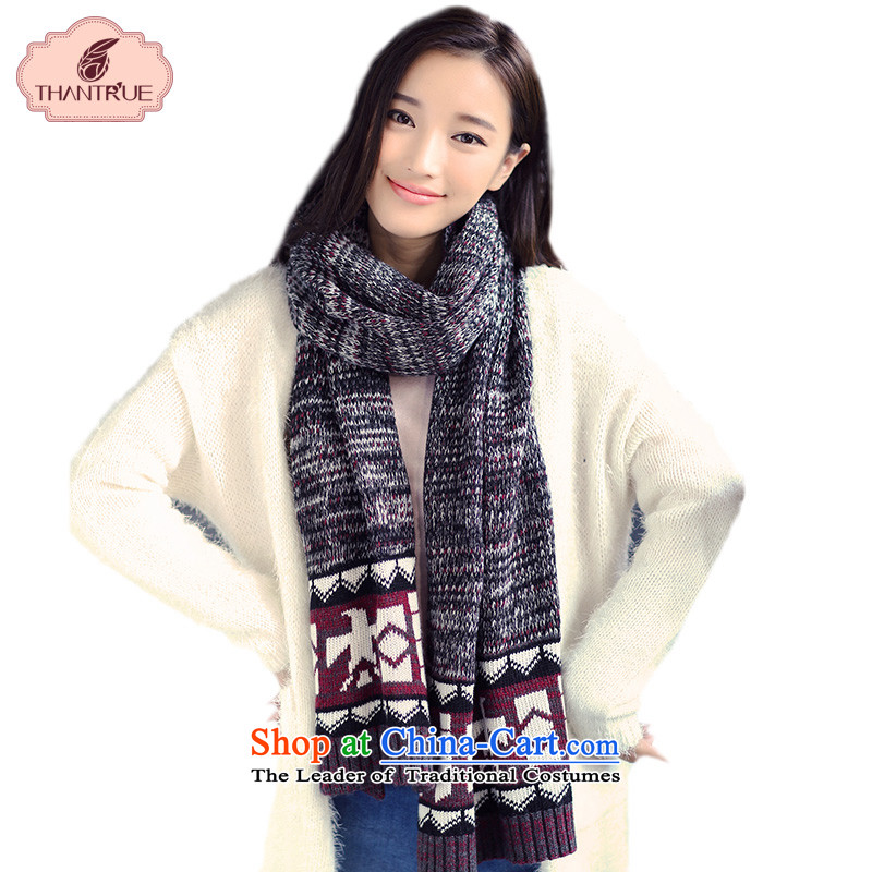 Enjoy true couples thantrue Knitting scarves, Autumn and Winter Sweater Korean color mixer folder Queen Gray