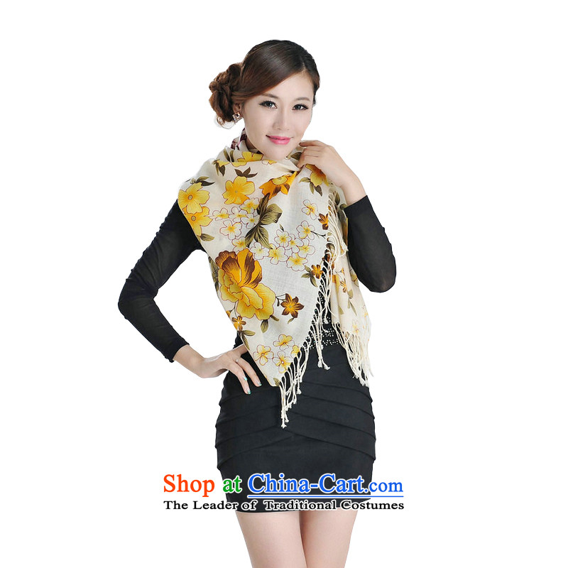 Hengyuan Cheung female wool carpet Dz-wp319 stamp long towel yellow nice gift box