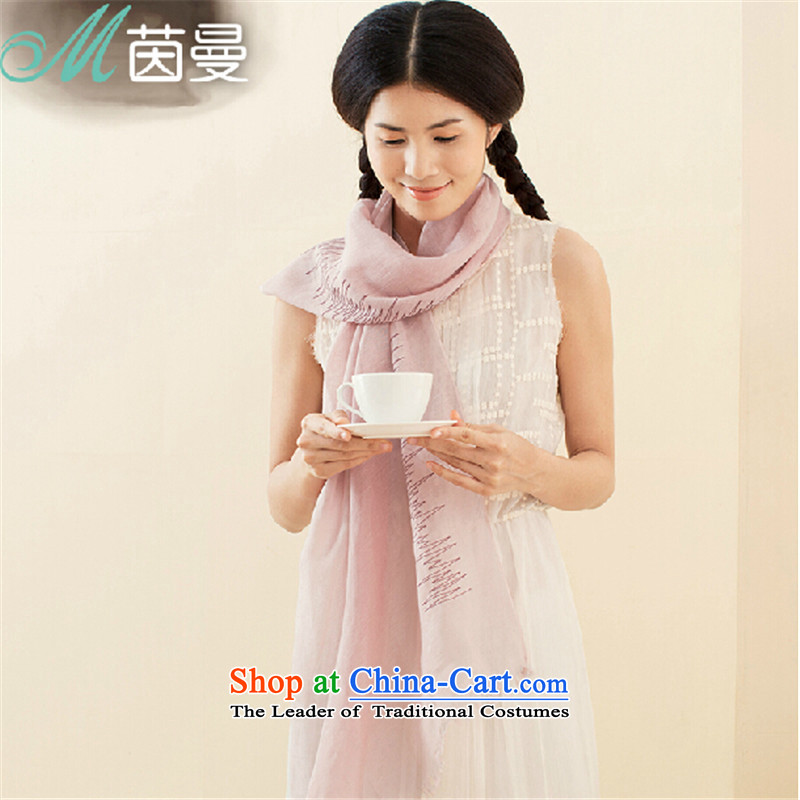 Athena Chu Cayman cotton linen scarves, pure color long, thin, literature and art wild female air-conditioning shawl 843140013 (as a light purple