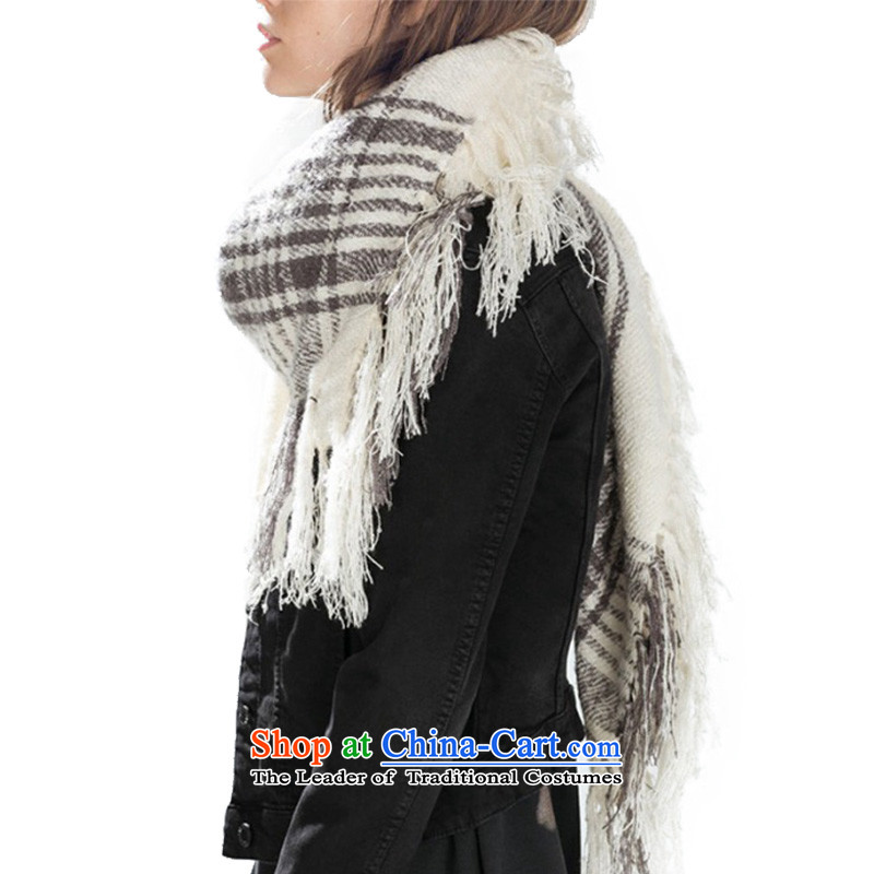 The Emulation /pashmina shawl grid CHEGEE classy and towel warm beige scarf female