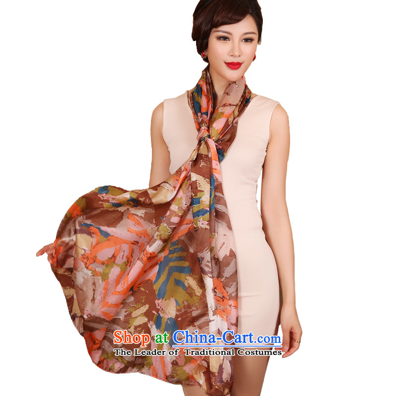 The Butterfly Dance Medley President Dos Santos silk scarves silk scarves shawl long autumn and winter scarfNO.1# tranquil light color