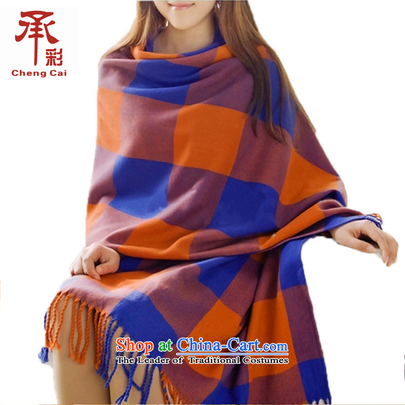 The Multimedia female Korean autumn and winter intensify thick warm sweater shawl wh3474313Blue orange