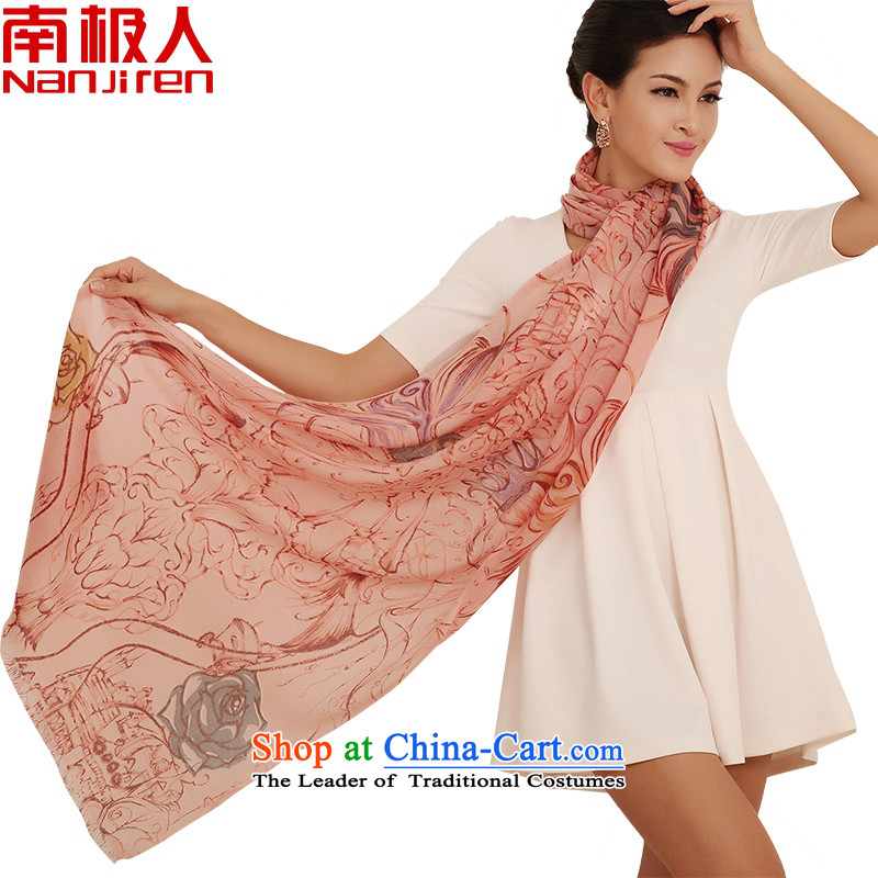 Antarctic people fall and winter new Korean president stamp wooler scarf leisure wild, a crown rose Pink