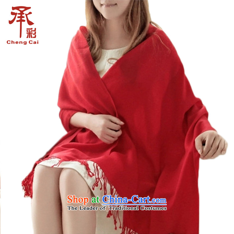 Gift box of multimedia autumn and winter included wool twill Ms. process warm Fancy Scarf dual-use the next rainy season - Red