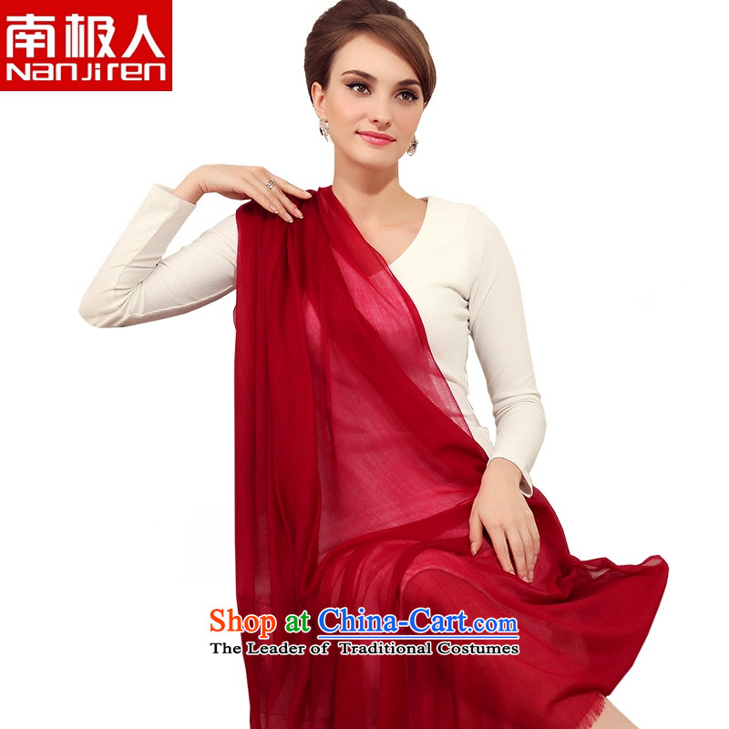 The 2014 autumn and winter Antarctic people stylish 300 rings lint-free pure colors pure cashmere shawls scarves, scarves, Korea style-long dark red