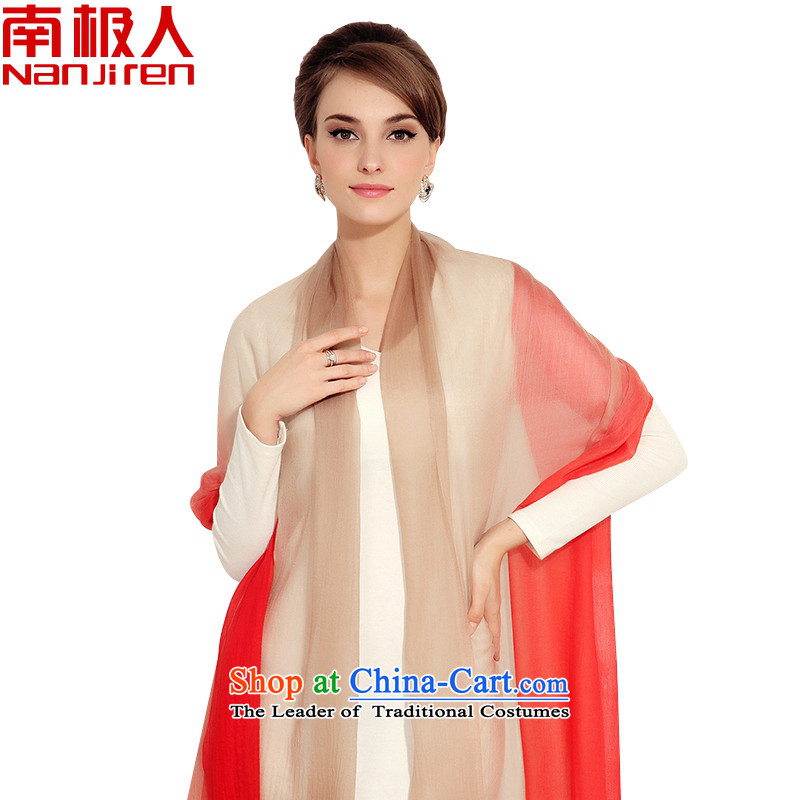 Antarctic PICC warm pashmina female Korean versions of 300 support the gradient pashmina large stained shawl a red orange light coffee