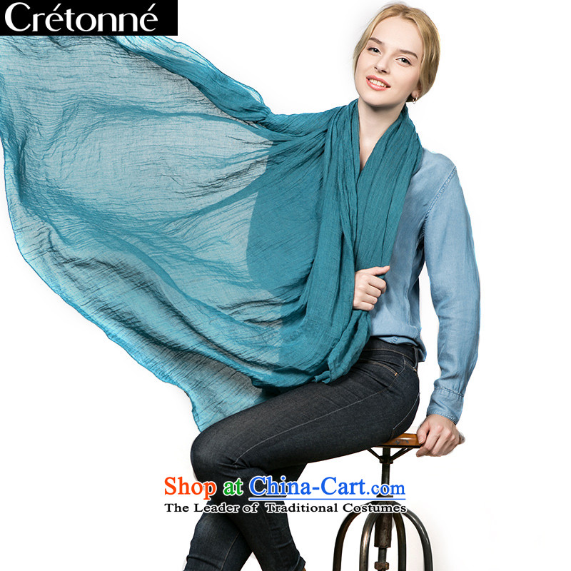 The spring and autumn of CRETONNE cotton linen scarf pure color a pro-skin care-shawl Ms. CR-20140907 green
