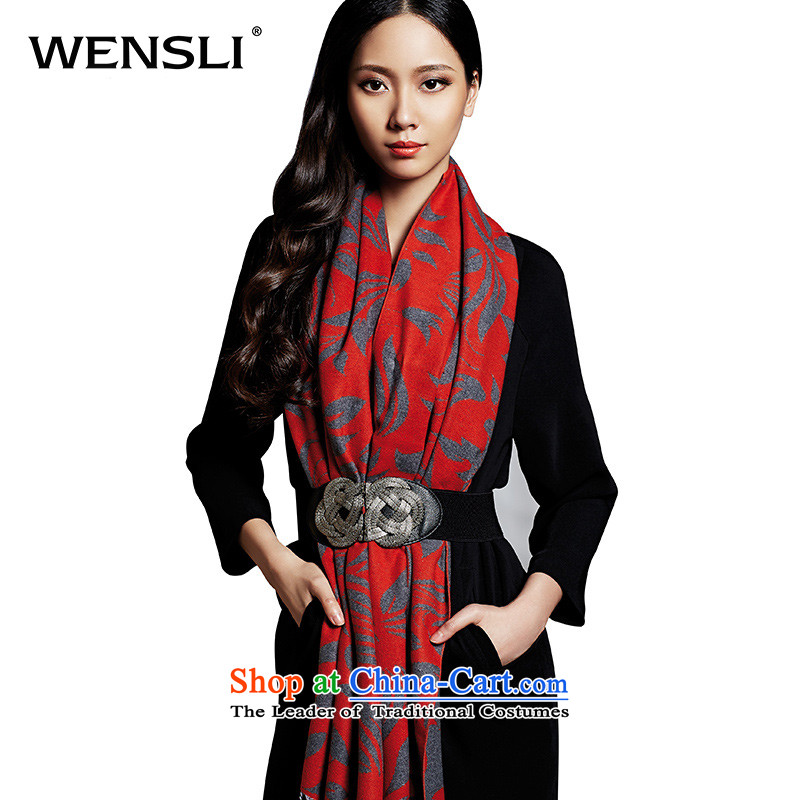 Wensli/ Wensli autumn and winter new 100 herbs extract brushed shawl temperament Red Scarps girls dancing autumn Heung Yip Panama 200*60cm Xiaguang Lane