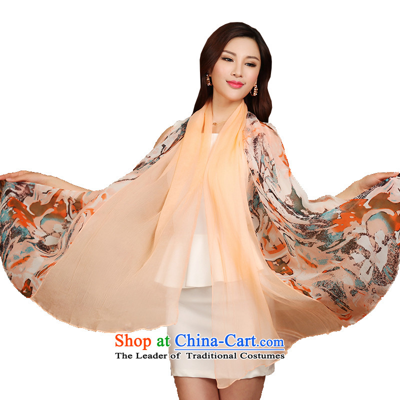 The Butterfly Dance Medley Shanghai story stylish stitching silk scarves scarf herbs extract towel long shawl poetic Shanshui light orange red