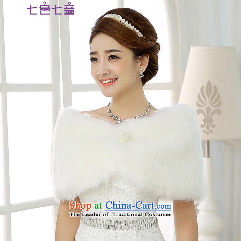 7 7 color tone2015 new gross wedding dresses shawl shawl qipao bridesmaid marriage jacket bride shawl whitePJ010Pearl White
