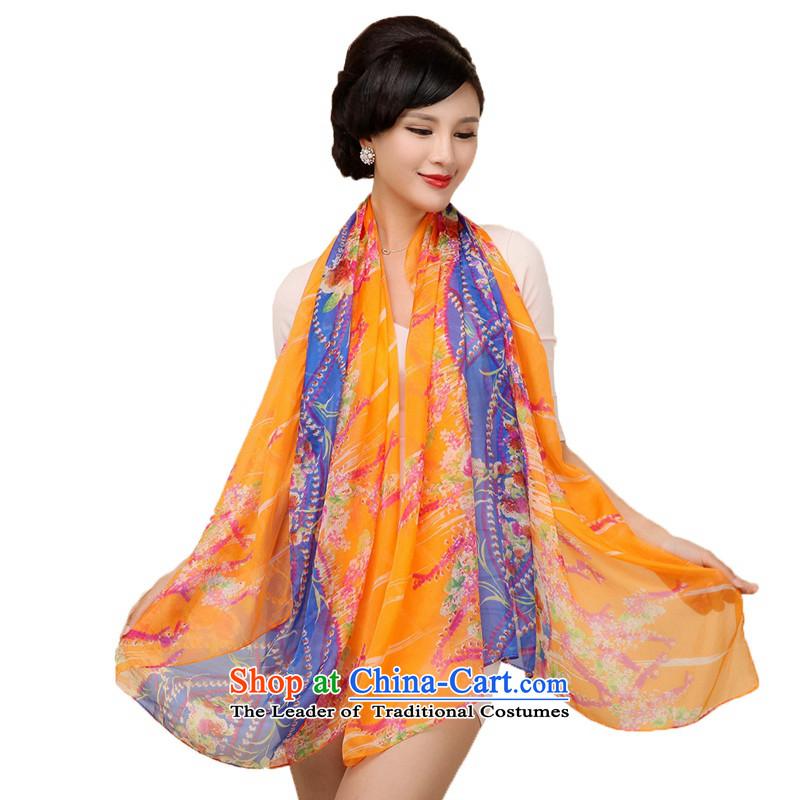 Shanghai Story long silk scarf women digital inkjet sauna silk scarves large wild fancy scarf#11
