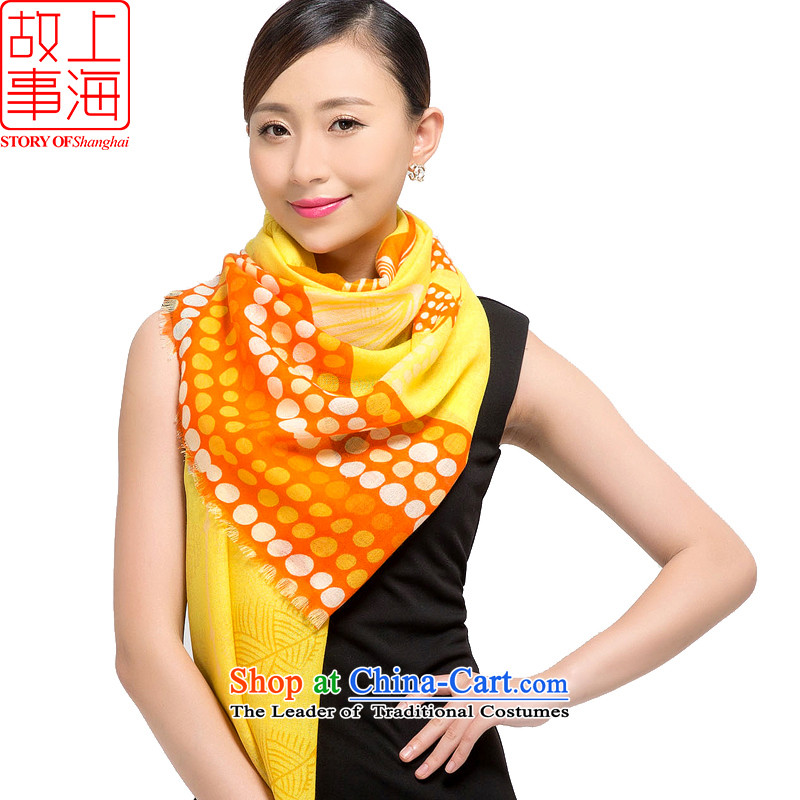 Shanghai Story聽2015 new stamp Ms. wooler scarf warm winter long shawl multimedia content, Yellow