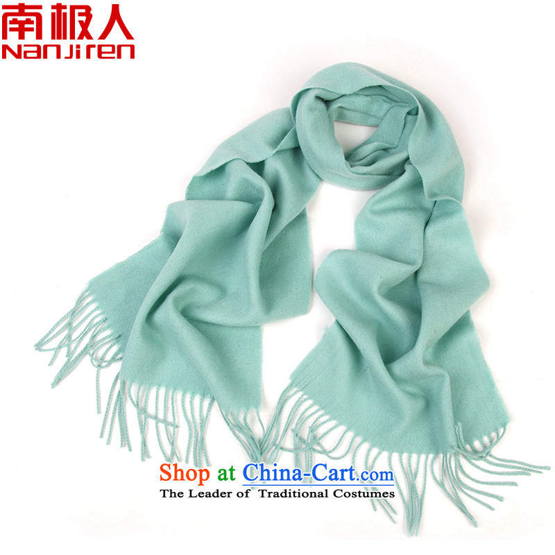 Antarctic Cashmere scarf of warm pashmina shawl pure color lamb plush scarf female lake green